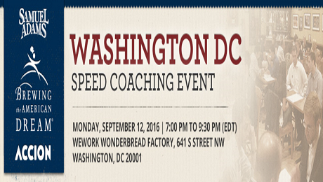 Attention DC Food and Beverage Entrepreneurs: Free Speed Coaching Event on September 12th