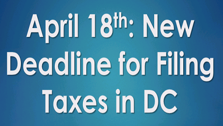 Attention DC: OTR Extended Tax Filing Deadline for Electronically Filed Returns to April 18th