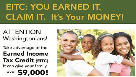 Attention Washingtonians: Take Advantage of the EITC. It's Your Money. Claim It!