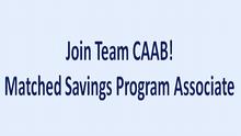 CAAB is Seeking a Matched Savings Program Associate