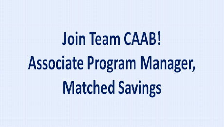 CAAB is Seeking an Associate Program Manager, Matched Savings