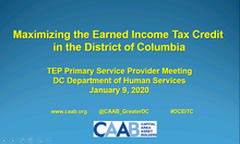 CAAB Launches 2020 Tax Season #DCEITC Community Conversations