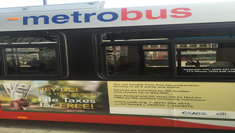 CAAB Thanks DC Office of Tax and Revenue and WMATA for Supporting Us to Raise Awareness of the EITC