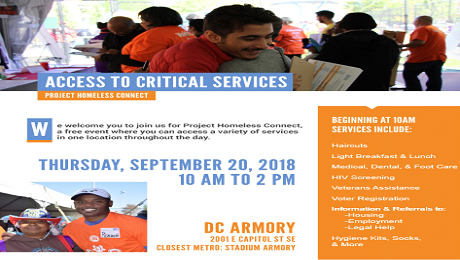 CAAB to Do EITC Outreach at UWNCA's 4th Annual Project Homeless Connect
