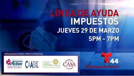 CAAB to Partner with Telemundo Washington for a Taxes Phone Bank in Spanish on March 29th