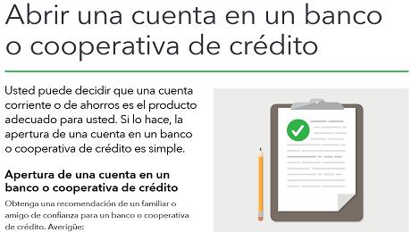 Abrir una Cuenta en un Banco o Cooperativa de Crédito (Credit Union)