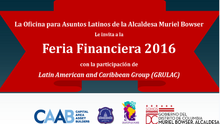 Feria Financiera 2016 en Washington, DC el Sábado 14 de Mayo