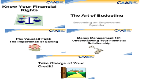 Finishing 2015 Right with CAAB's Financial Education One-Day Money Management 101 Workshop