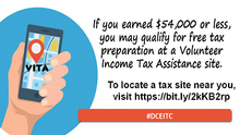 Free Tax Return Preparation is Available for DC Residents!