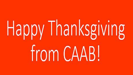 Happy Thanksgiving from the Staff at CAAB!
