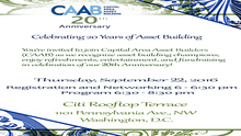 Join CAAB to Celebrate Our 20 Years of Asset Building in the Greater DC Area