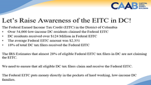 Let's Raise Awareness of the Earned Income Tax Credit (EITC) in DC!