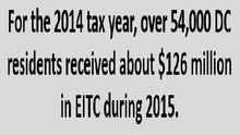 Press Release: Bringing More Federal Dollars to DC Low-Income Families through the EITC