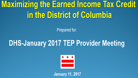 Partnering with DC DHS to Raise Awareness of the EITC and Free Tax Preparation Services