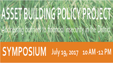 On July 19th, You Are Invited to Discuss How to Achieve Financial Security in the District of Columbia