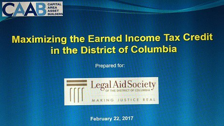 Partnering withLegal Aid Society of the District of Columbiato Raise EITC Awareness