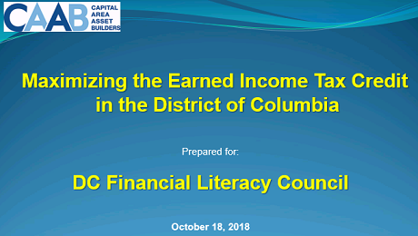 Partnering with the DC Financial Literacy Council to Raise Awareness of the EITC