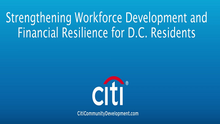 Private-Public Partnership to Strengthen Workforce Development and Financial Resilience in DC