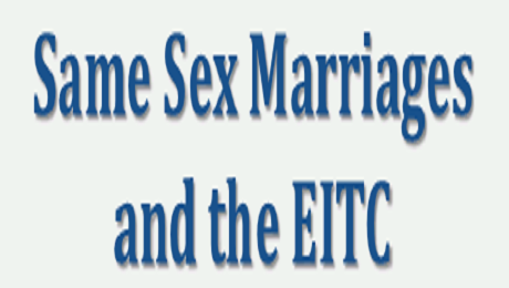 Same Sex Marriages Can Also Take Advantage of the EITC