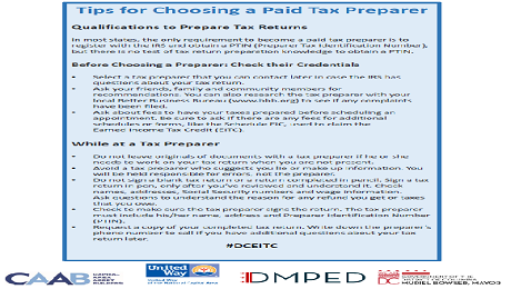 Tips for Selecting a Paid Tax Preparer