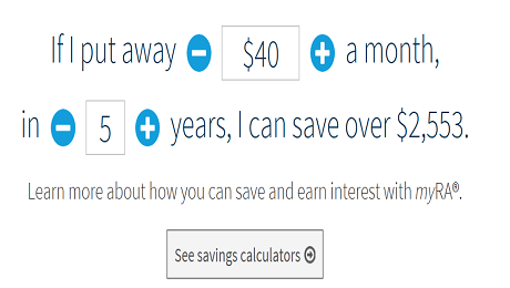 You Work Hard-myRA Makes Saving Easy
